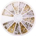Slika izdelka Kamenčki v kolesu zlato srebrne barve 240 kom