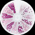 Slika izdelka Kamenčki v kolesu roze&fuchsia 270 kom