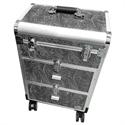 Slika izdelka Srebrn kovček na kolesih
