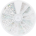 Slika izdelka Kamenčki v kolesu kristalne in ledene barve 270 kom